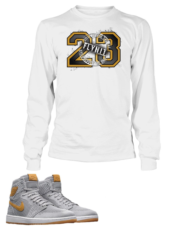 1a0169506 23 Tee Shirt To Match AIR JORDAN 1 shoes Mens Long Sleeve Pro Club Flyknit  White nwqoxn3443-T-Shirts