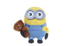 Minions Bob mit TeddyBär Tim Plüsch-Figur 28 cm Kuscheltier Stofftier Neu