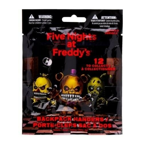 FNAF Officially Licensed Five Nights At Freddy's 3 Figure Hangers Toy 5-Packs