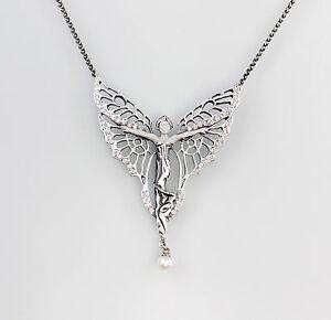 9901339-925er-Silber-Collier-mit-Swarovski-Steinen-u-synth-Perle-L42cm