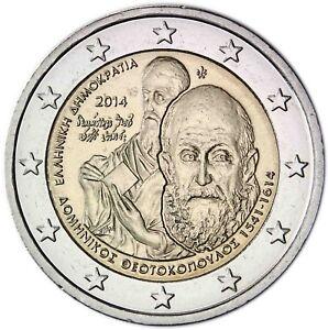 Griechenland-2-Euro-2014-Gedenkmuenze-El-Greco-bankfrisch
