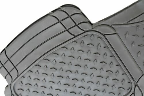 Black UKB4C 3pc Full Set Heavy Duty Rubber Floor Mats Citroen C1 C2 C3 C4 Saxo