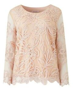Nightingales-Women-039-s-Lace-Floral-Blush-Cornelli-Top-Size-22-New-With-Tags