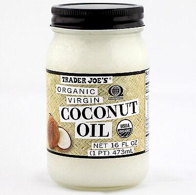 Trader Joe's Coconut Oil Extra Virgin Organic Unrefined (16 fl oz)