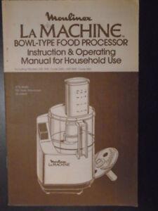 Moulinex la machine manual & recipe 40 page book (pdf) lm4 lm5.