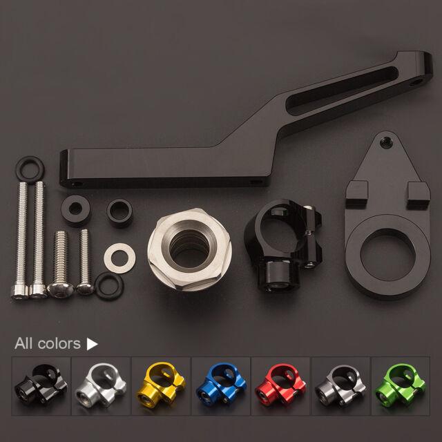 FXCNC Mounting Kit For Kawasaki ZX6R 2009-2017 12 Steering Damper Bracket  Black
