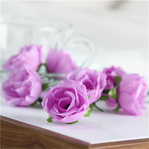 50X Artificial Rose Flowers Bouquet Wedding Bride Flower Party Home Decor DIY UK