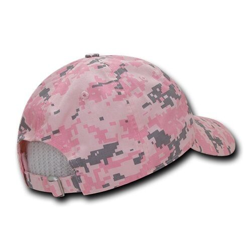 Pink Camo USA US American Flag United States America Polo Baseball Hat Cap