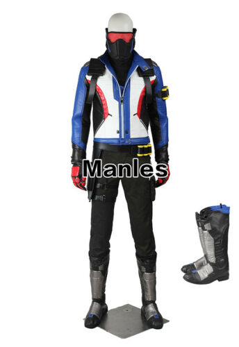 76 Soldier Jack Morrison Cosplay Costume Uniform PC Game Props Outfits Hero Suit