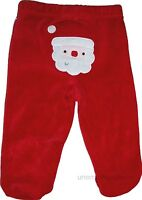 Christmas Santa Pants Long Closed In Feet Boys Girls Unisex Holiday Bottoms