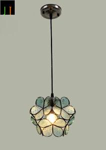 Free-Postage-JT-Tiffany-Blue-Flower-Shape-Glass-Pendant-Lamp-Home-Decor