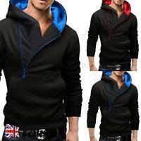 Mens Casual Slim Fit Hoody Hoodie Sweatshirt Sweater Jumper Pullover Hooded Coat