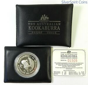 1992-KOOKABURRA-PROOF-SILVER-Coin-in-Wallet