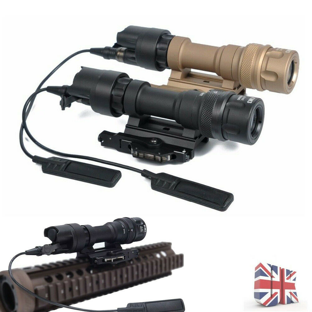Hunting Tactical M952V LED Torch Flashlight Lights Airsoft Scope Mount New