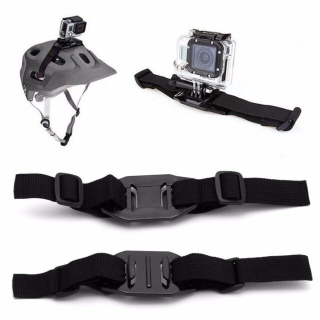 Universal Ventilé Sangle Casque Mount Adapter For Sport Camera HD GoPro Hero 1 2 3