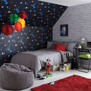 Details About Cosmos Charcoal Wallpaper By Arthouse E Planets Stars Solar System Bedroom