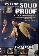 SOLID PROOF - COLD STEEL World's Strongest Sharpest Knives DVD NEW Sigillato