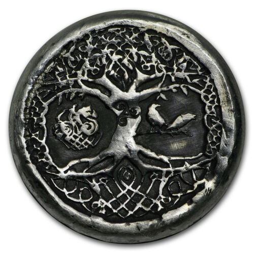 Celtic Tree of Life 1 oz Hand-Poured Silver Round SKU#159196
