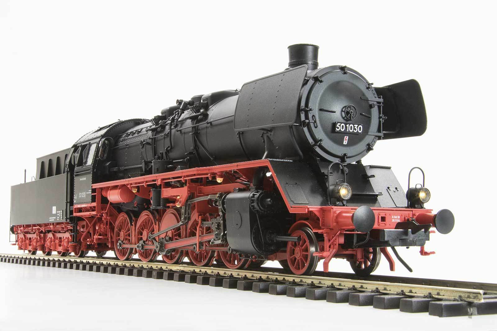 Lenz o Gauge 40249-01 Locomotive Br 50 with Older Design Boiler de, Vierdomig