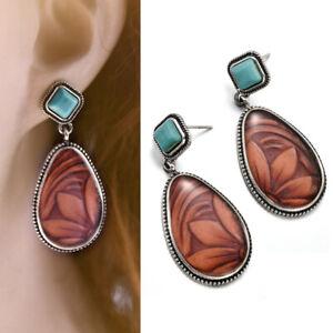 Vintage-Retro-Turquoise-Ear-Stud-Dangle-Bohemian-Earrings-Wedding-Jewelry-Women