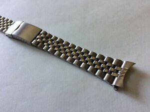 Cinturino-in-acciaio-tipo-Jubilee-ansa-curva-20mm-steel-watch-band-strap