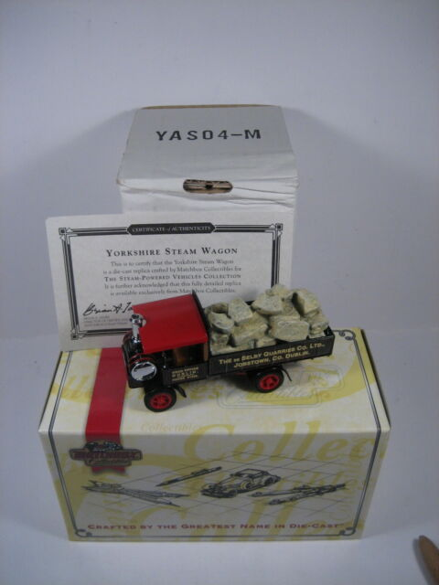 Matchbox Models of Yesteryear YAS04 1917 Yorkshire Steam Wagon De Selby Quarries