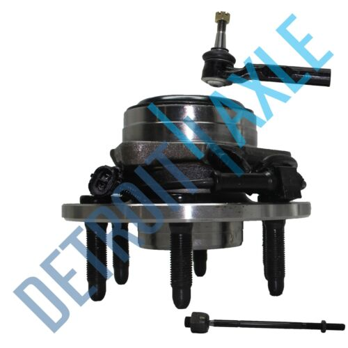 NEW 3pc Kit 1 Inner Tie Rod 2WD 1 Outer Front Wheel Hub /& Bearing Assembly