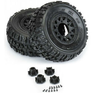 Pro-Line-1190-10-Trencher-X-SC-2-2-3-0-039-039-All-Terrain-Tires-w-Black-Wheels-F-R