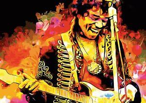 Art Print POSTER CANVAS Jimi Hendrix Rock Music Star#1