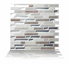 Tic Tac Tiles Anti-mold Peel and Stick Wall Tile in Como Pebble (5) 5