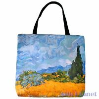 VINCENT VAN GOGH Cornfield Cypresses TOTE SHOPPING BAG ART PRINT CANVAS GIFT