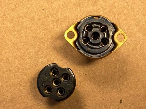 Qty Avail NOS Vintage 5-Pin Miniature Plug /& Socket Male//Female Jack 1960s Reel