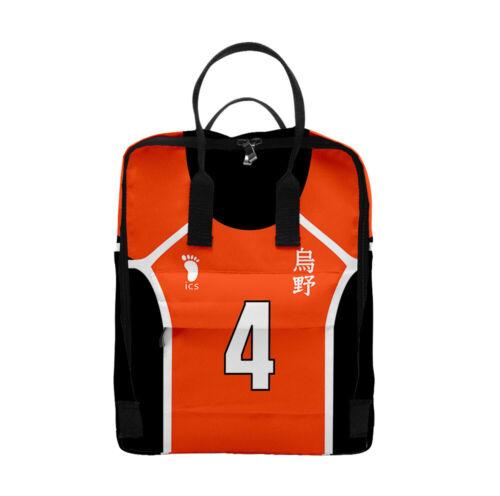 Backpack ハイキュー! Haikyuu! Cool Bag Rucksacks Sports Schoolbag Camping Bags 2020