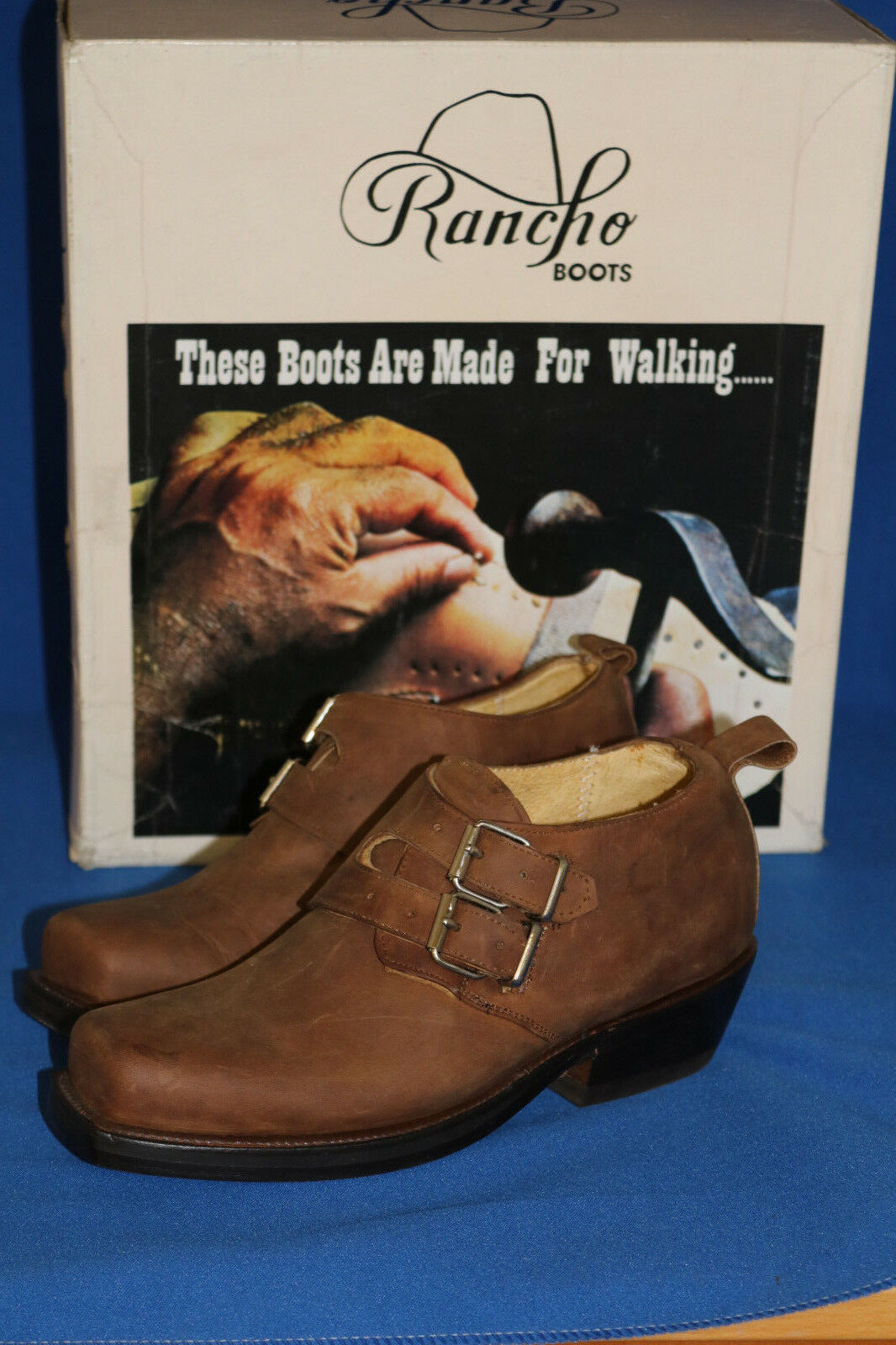 Rancho Boots cowboystiefel , schuh,  neu leder handmade  gr. 35 choco mokka