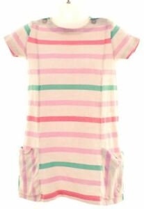 JOULES-Girls-Basic-Dress-9-12-Months-Multicoloured-Striped-Cotton-KN15