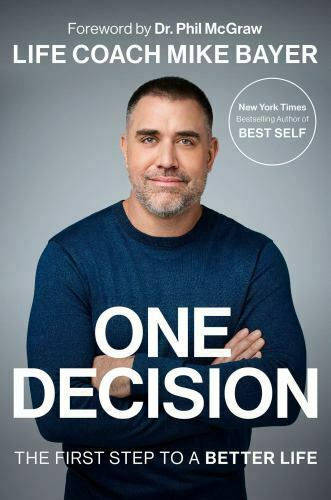 ONE DECISION: First Step to a Better Life '20 Mike Bayer NYTimes Best Mint!