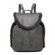 d42e9157f3 item 3 Unisex Fluffy Fur Trim School Bag Backpack Rucksack Travel College  Shoulder GYM -Unisex Fluffy Fur Trim School Bag Backpack Rucksack Travel  College ...