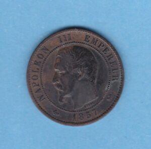 BR-173-10-CENTIMES-NAPOLEON-III-1857-B-ROUEN-TTB