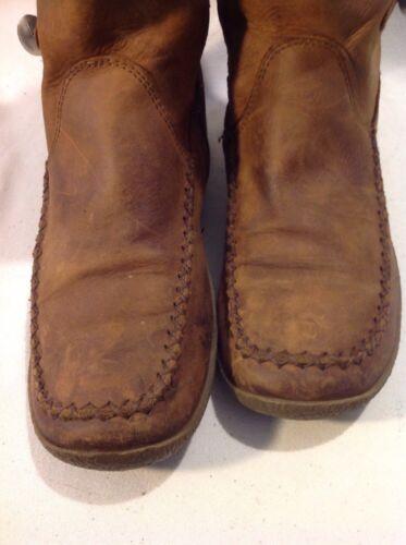 Taglia con caviglia Clarks Brown 4 Stivali pelle in qOtwYYE