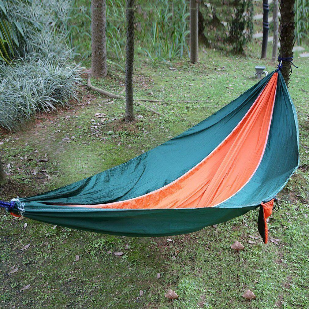 Camping Hammock Double 2 Person Portable Parachute Nylon Outdoor Travel Sleep *