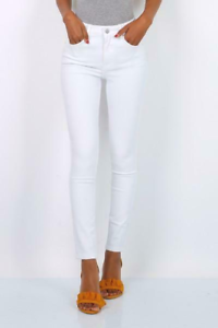 Women/'s Toxic White Jeans Summer Style Trousers Skinny Stretchy Fit Comfortable