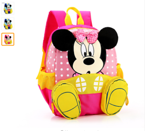 7336073dbe76 Image is loading Mickey-School-Bag-Minnie-Kids-Bag-Children-Backpack-