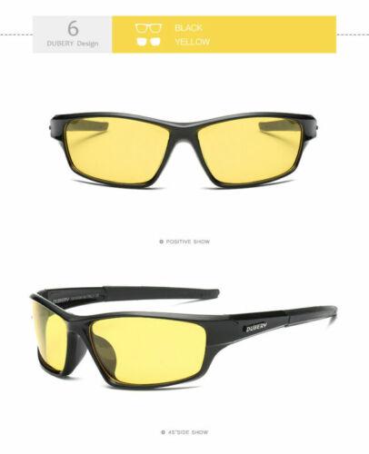 DUBERY Men Women Vintage Polarized Sunglasses Driving Goggle Eyewear Fishing