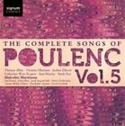 The Complete Songs of Francis Poulenc Vol.5 Thomas Allen Audio CD