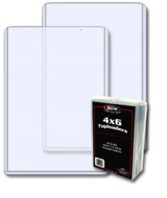 """#BCW Clear 4/""""X6/"""" Topload Card Holder For Postcards Photos Art Recipes Tickets"""