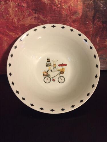 "Oneida Kitchen Chefs to Go Jennifer Garant Stoneware Vegetable Bowl Plate 9.25/"""