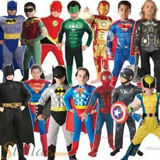 Boys Deluxe Child Muscle Chest Superhero Kids Book Week Fancy Dress Costume
