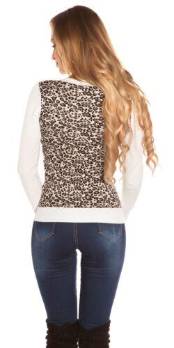 KOUCLA chandail Pull tricot Pull Sweater avec LEOMUSTER