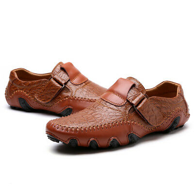Mens Casual Flats Heel Comfort Driving