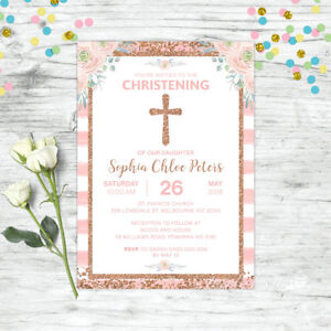 CHRISTENING-INVITATIONS-BAPTISM-INVITE-BLUSH-PINK-ROSE-GOLD-GIRLS-PARTY-SUPPLIES